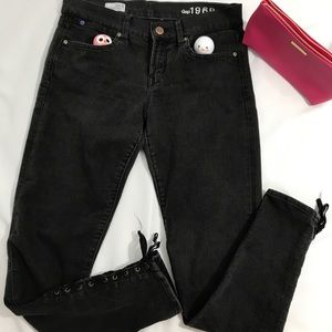 Gap Legging Jeans with side laces